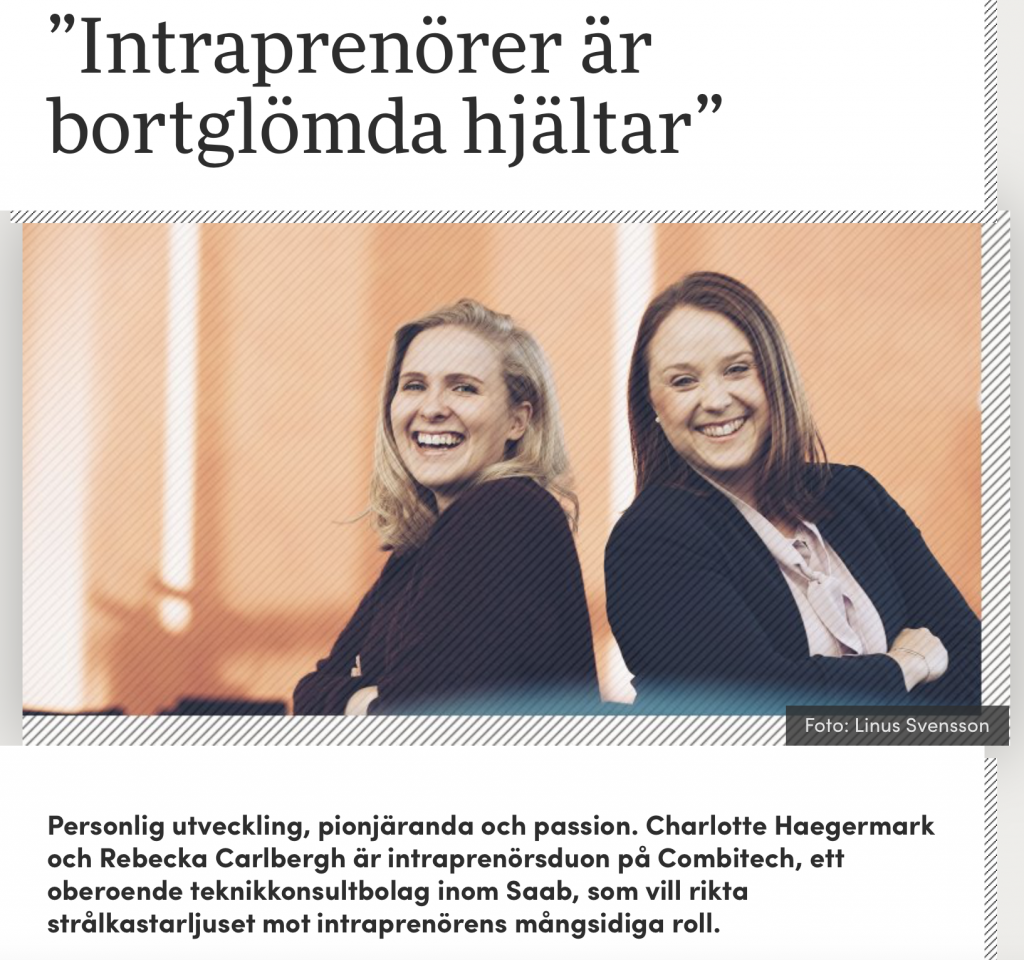 Interview about Intrapreneurship with Charlotte Haegermark & Rebecka Carlbergh